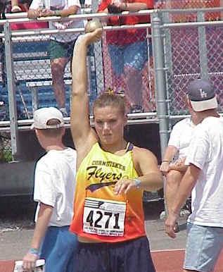 Abby Emsick, Young Women shot put, 43' 7¾