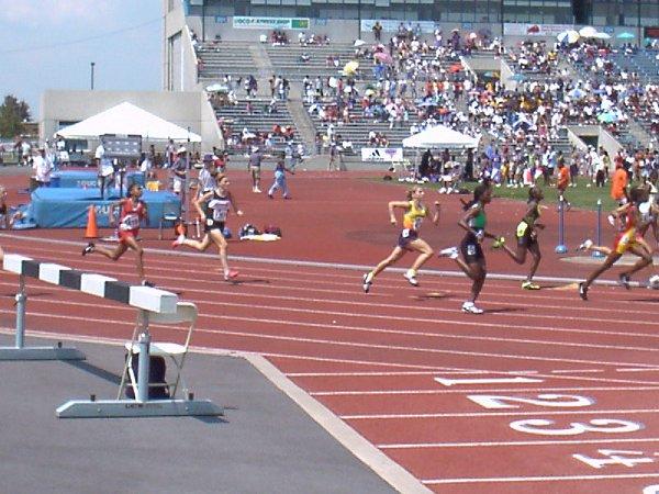 Allison Hartnett, Youth Girls 800 meter run, 2:26.94, 20th