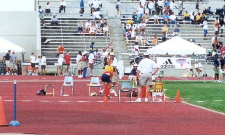 Abby Emsick, Young Women javelin throw, 111' 6