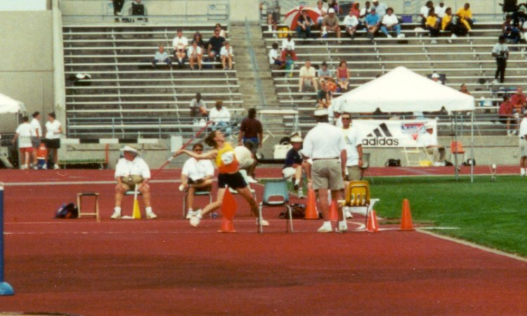Jen DeRouchey, Young Women javelin throw, 125' 7