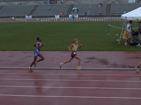 Briana Adams, Bantam Girls 1500 meter run, 5:43.43, 22nd