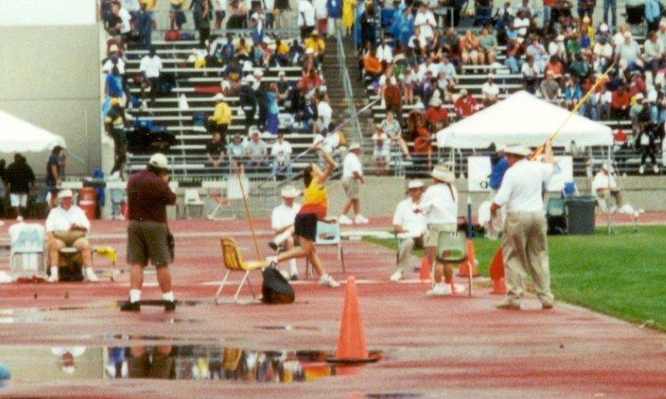 Krissy DeRouchey, Youth Girls javelin throw, 70' 4