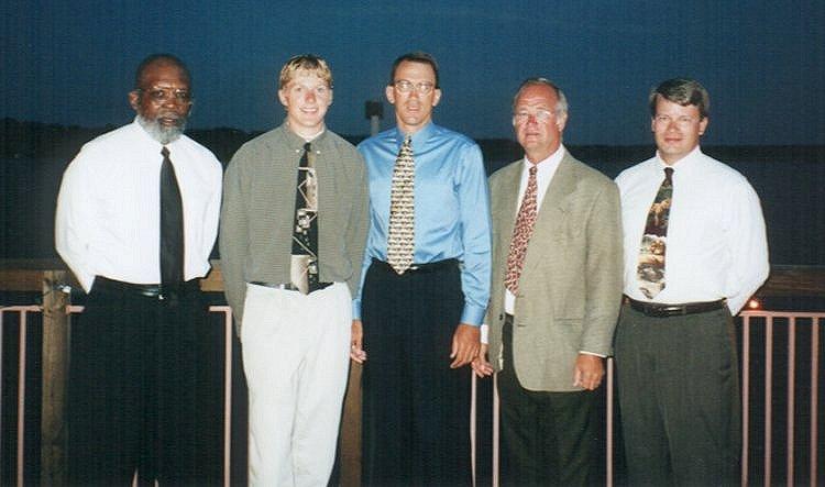 Flyer coaches: Harley Cooper, Jesse Kruger, Darwin Gushard, John Wissler, and Dave Gibbons