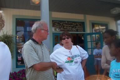 Coach Wissler and Sue Boyd