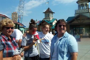 Cindy Svoboda, a thirsty Merideth Snow, Allison Hartnett, Denise Snow
