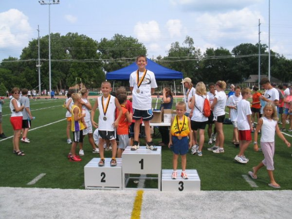 Bantam Boys 1500 meter medalists - Justin 3rd