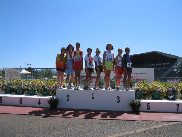 Bantam Girls 1500 meter race walk medalists - Morgan 8th