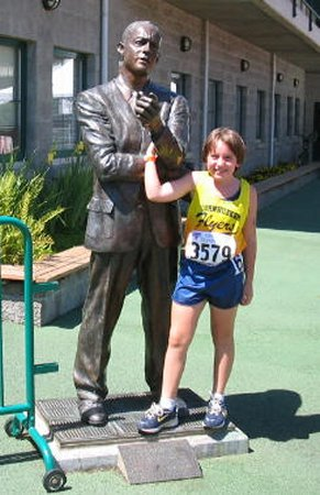 Coach Bowerman and Morgan