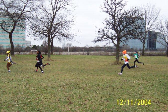 Heather in the Bantam Girls race