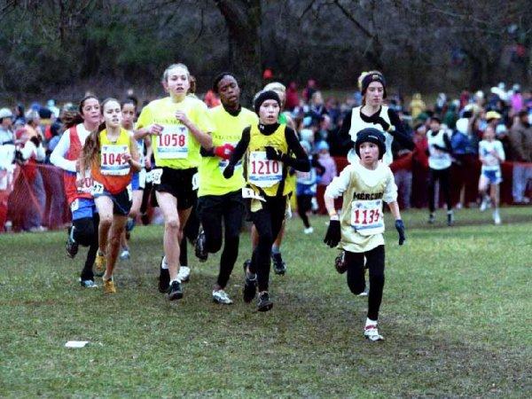 Lauren in the Midget Girls race