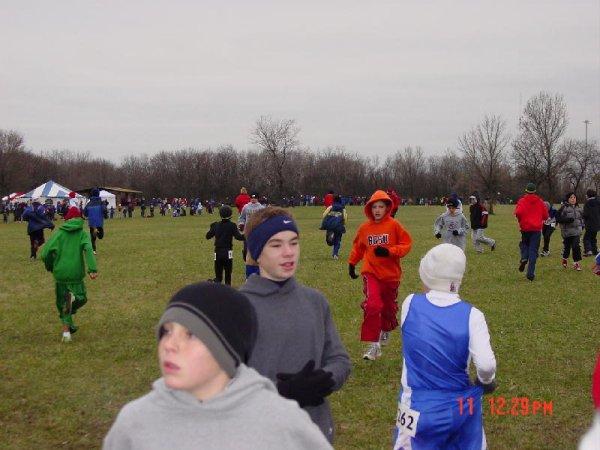 Jared before the Midget Boys race