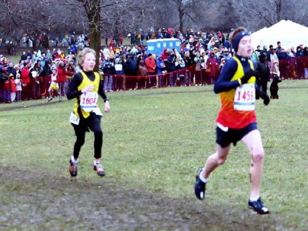 Jared near the end of his race