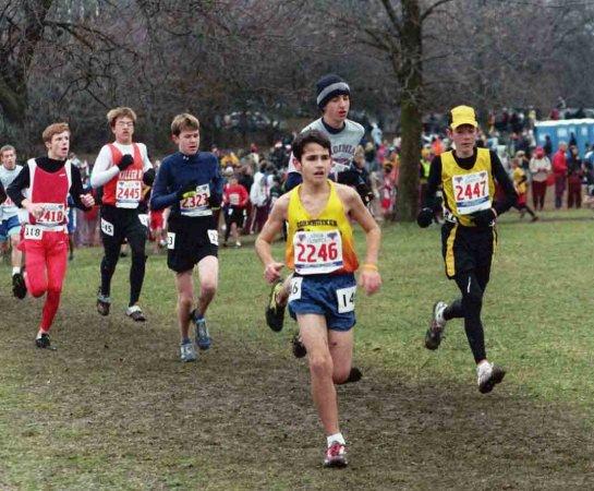 Jordan near the end of the Midget Boys race