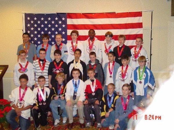 Midget Boys medalists - Jared in 1st!
